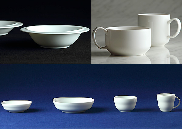15年続く白磁の食器