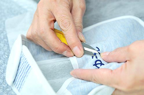 お客さま基準で作られたネーム刺繍サービス