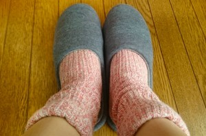 あったかくてさらさら♪2重編み靴下