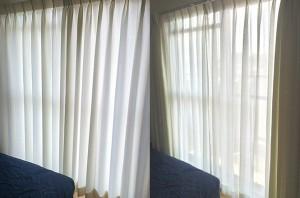 寝室に非遮光カーテンはいかがですか?