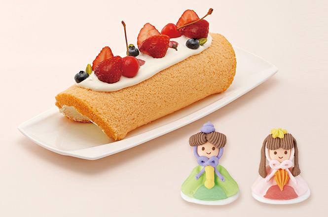 雛祭りのロールケーキ
