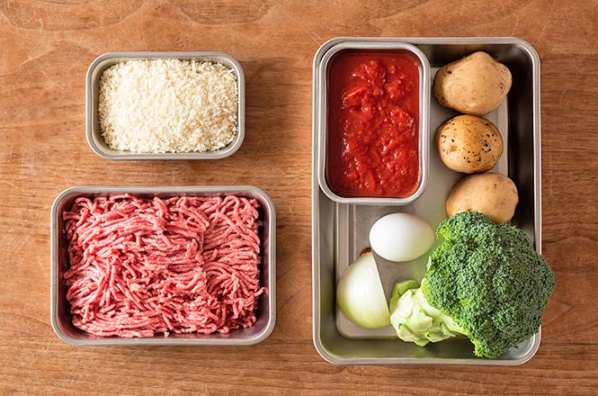 トマトの煮込みハンバーグ