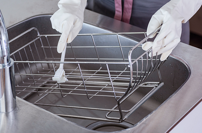 すき間掃除 水切りカゴ洗い・ネオナビオ ドレーナー