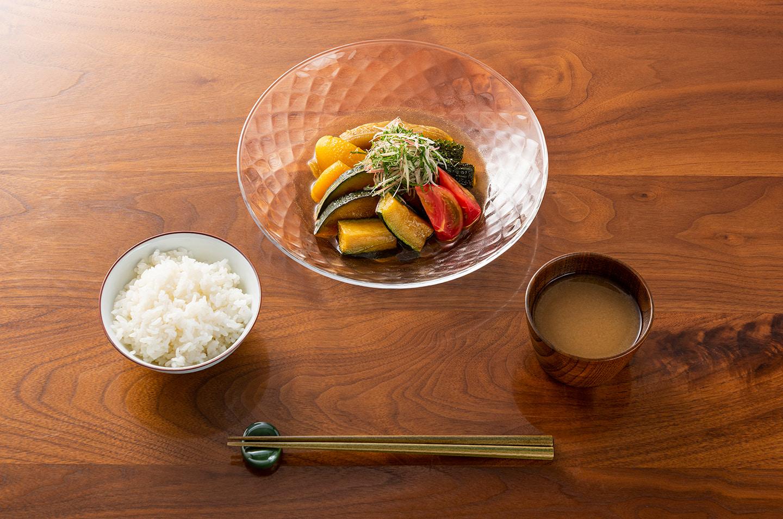 ルフレ ボウル 23cm・網 茶碗・天然木 そば猪口・食洗 シンプルカラー 五膳箸・シンプル カラー箸置き 5個セット