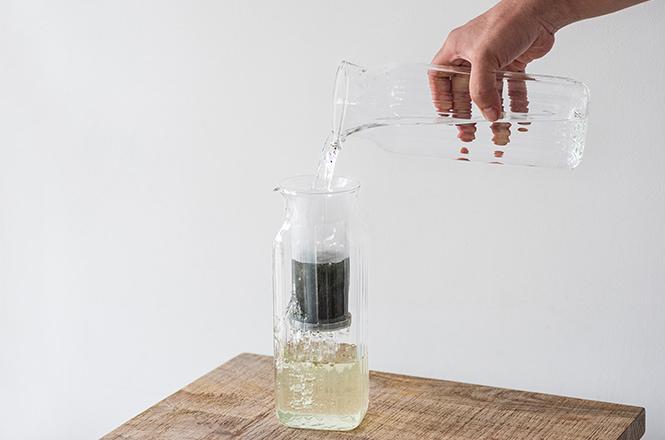 耐熱ガラス 茶こし付きサーバー