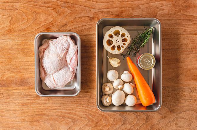 「チキンと根菜のスパイス焼き」レシピ