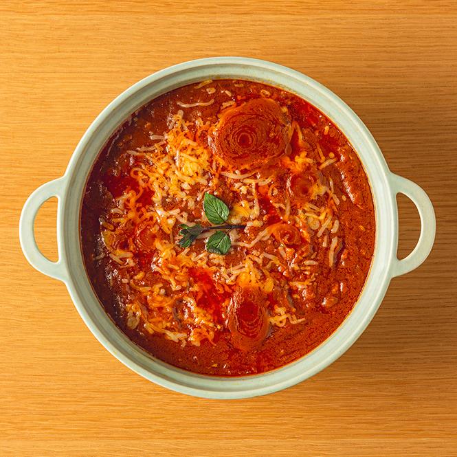 「ゴロゴロ角煮のトマトカレー」