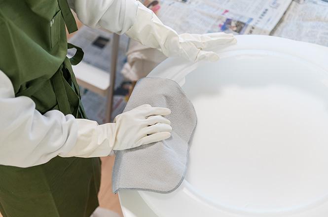 抗菌防臭マイクロファイバークロス 3枚セット、しっかり手肌を守れる ビニール手袋
