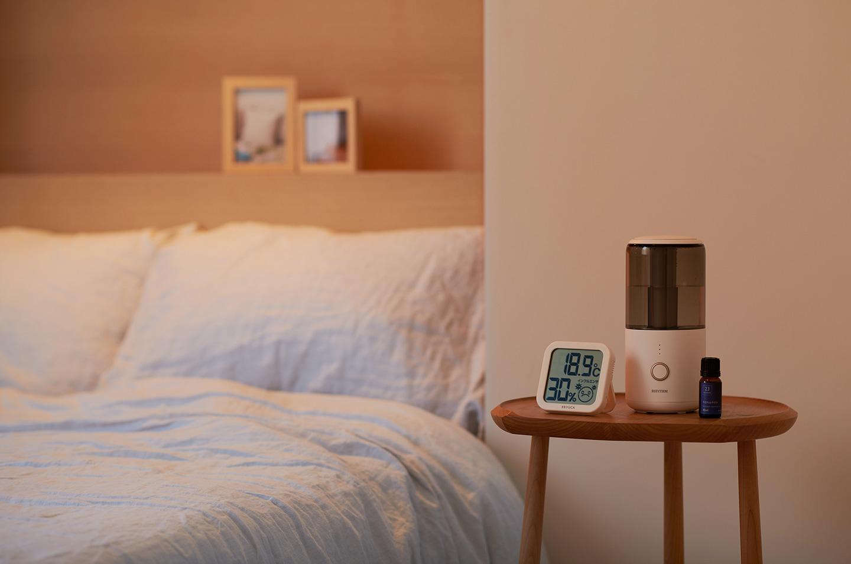 デジタル温湿度計、oc エッセンシャルオイル 23o'clock 10ml 今日もおやすみ